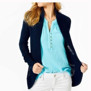 Lilly Pulitzer small Amile sweater navy